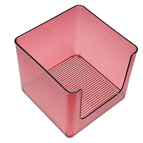 HEMOTON Makeup Organizer Container Plastic Clear Countertop Cosmetic Lagring Box Vanity Snacks Sundries Bin För Badrummets Toalettkontor Skåp Skrivbord Röd