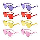 8 Pack Heart Sunglass Love Shaped Sunglasses...