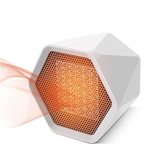 NIUFG Calentador eléctrico portátil para el hogar, Calentador para el hogar, Oficina, Escritorio, Dormitorio, Sala de Estar, 1000W (Color : White)