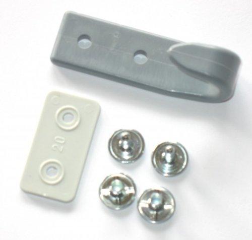 FKAnhängerteile 5 x Schleuderhaken Planenhaken GRAU für Expanderseil etc. inkl. Doppel Calott