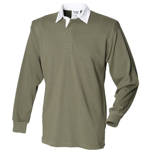 Front Row Manches Longues T-Shirt pour Original Rugby Olive M