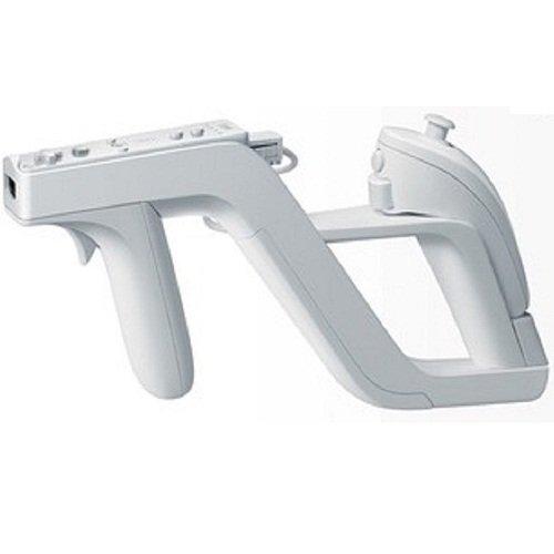 Pistola Zapper para Nintendo Wii para Insertar el Mando Remote y Nunchuck Color Blanco