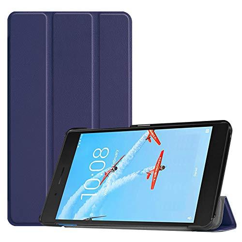 Lobwerk Schutzhülle für Lenovo Tab E7 TB-7104F 7 Zoll Slim Hülle Etui mit Standfunktion & Auto Sleep/Wake Funktion Blau