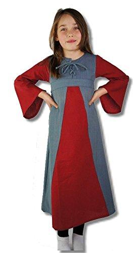 Leonardo Carbone Mittelalter Kleider kleine Maid - Kinder Marktkleid - Kinder Freya XS/rot/Natur