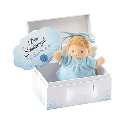 Sterntaler Mini-Spieluhr Schutzengel, Integriertes Spielwerk, Größe: 17 cm, Blau