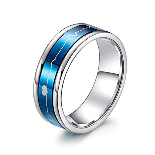 YOYOYAYA ring mannelijk titanium staal EKG draaien roestvrij staal vrouw paar sieraden