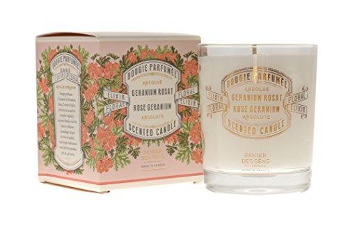 Panier des Sens geranio rosa candela profumata–180g (6oz)