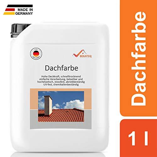 BEKATEQ BE-510 Dachbeschichtung seidenmatt Dachfarbe für diverse Arten von Dächern (Anthrazitgrau / 1L)