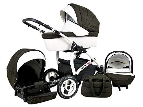 Cochecito de bebe 3 en 1 2 en 1 Trio Isofix silla de paseo Storm-White by SaintBaby Chocolate 4in1 con Isofix + Silla
