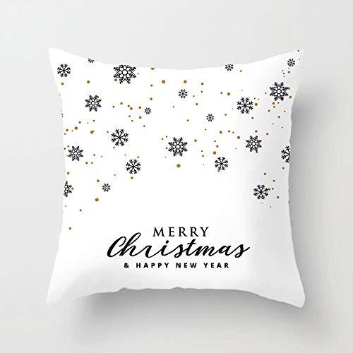 JIAORLEI With Pillow & Cushion Innerchristmas Pillow Cushion Covers Nordic Style Christmas Simple Blue Green White Throw Pillow Cover Decorative Christmas Decor-40X40Cm