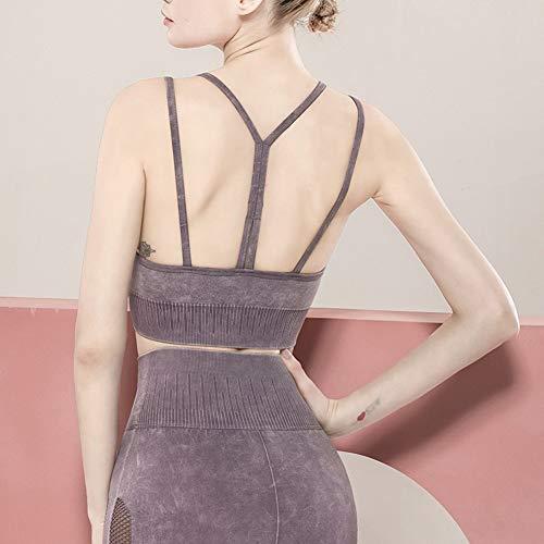 HMMJ Sin Fisuras Deportes Bras, Cultivos Desgaste del Yoga Top Chaleco de Mujeres (Color : Purple, Size : S (2))
