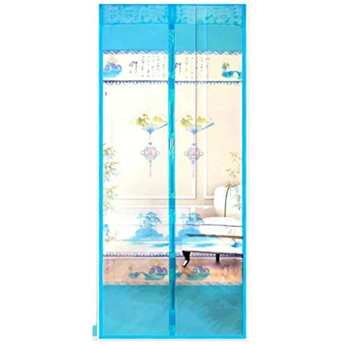 QVIVI Magnetic Screen Door for Anti Mosquito or Anti Pest Fly Insect Magnetic Soft Door Summer Home Bedroom Encryption Door Screen Mesh Curtain Self-Priming Magnetic Soft Screen Curtains,100210CM