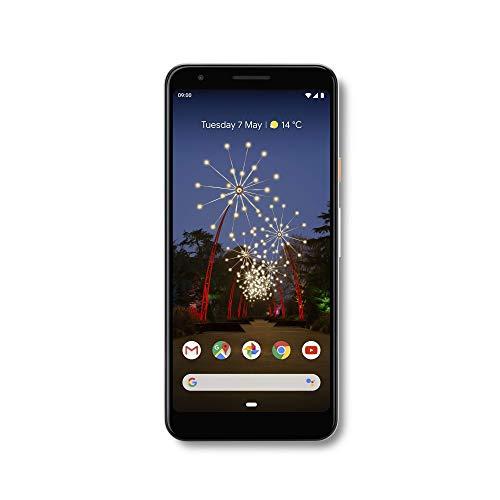 Google Pixel 3A 64GB + 4GB RAM Desbloqueado da Fábrica Android 4G/LTE Smartphone (Branco) - Versão Internacional