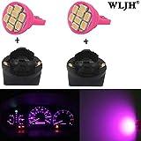 WLJH Lot de 6Rose T10 168 194 LED Tableau de bord ampoule avec Twist prises pour Série 3 E36, Plug and Play