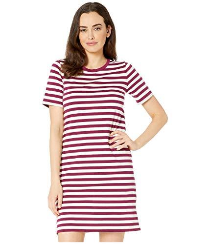 Michael Kors Damen T-Shirt Kleid, gestreift, reguläre und kleine Größen -  Rot -  X-Klein