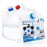 Gowithwind Collapsible Water Container with Spigot, 5.3 Gallon Food Grade BPA Free Camping Water Storage Jug Water Canteen for Outdoor Hiking & Emergency Survival Kit, Foldable Portable Canteen