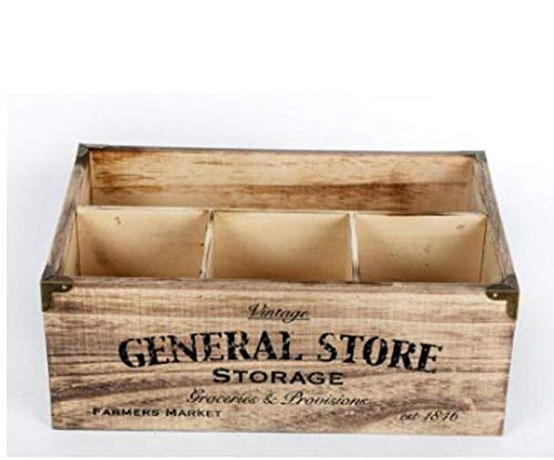 General Store Sortier-Box/Stiftebox/Utensilo aus Holz ca. 30 x 20 x 11 cm