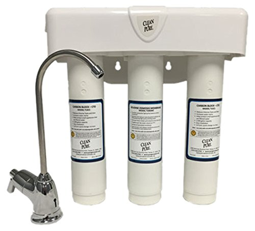 3-Stage Twist Lock Reverse Osmosis (RO) System, CTO/MEM/CTO, 35gpd, 2.8 gallon tank, faucet, tubing and all installation hardware