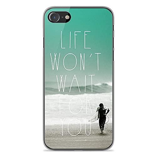 Surfer 1001 - Carcasa de silicona para iPhone SE 2020