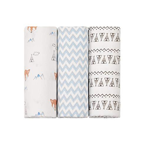 Cueiro Flanelado Papi Baby Estampado 80Cm X 80Cm 03 Un, Papi Textil, Azul
