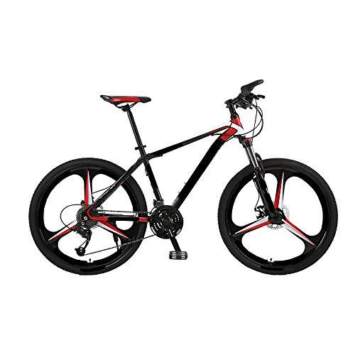 MH-LAMP Mountainbike 30 Gang, Gabelaufhängung Kann Arretiert Werden, Mountain Bike Mudguard, Fahrrad MTB mit Flaschenhalter, Fahrrad Scheibenbremsen,24 inch
