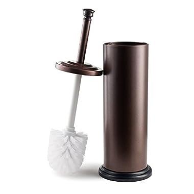Estilo Stainless Steel Toilet Brush and Holder - Bronze