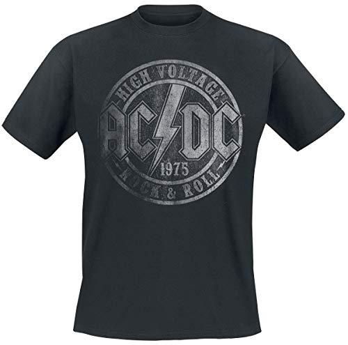 AC/DC High Voltage 1975 Männer T-Shirt schwarz XXL 100% Baumwolle Band-Merch, Bands