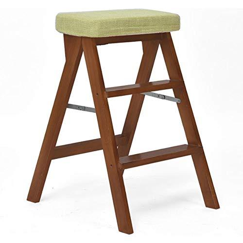 Dall opstapje, keuken, hoge kruk, draagbaar, massief hout, afneembaar, linnen overtrek, opslaggewicht 100 kg, 42 x 54 x 65 cm