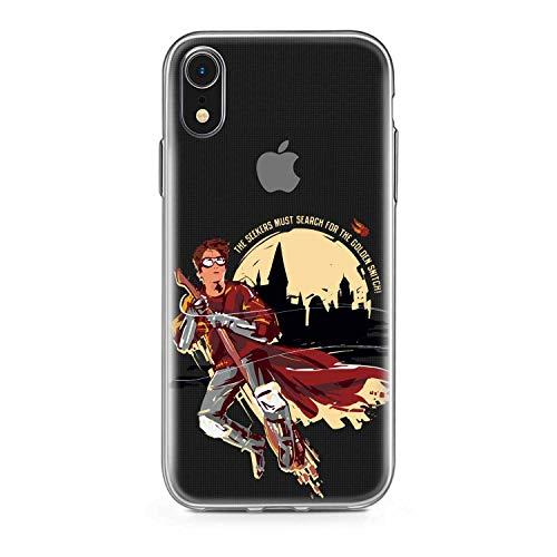 Finoo Handyhülle kompatibel für iPhone XR - Hülle mit Motiv und Optimalen Schutz TPU Silikon Tasche Case Cover Schutzhülle - Harry Potter Seeker