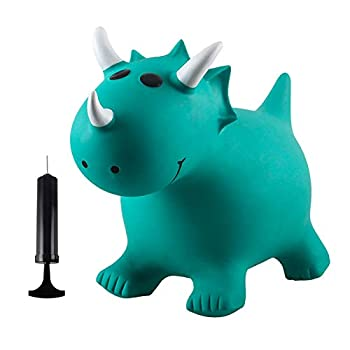 INPANY Bouncy Horse Hopper for Toddlers-Hopping/Hoppity/Bouncing/Bounce Horse Jumping Horse Inflatable Ride-on Animal Toy for Kids/ Children/ Boys/ Girls   Pump Included