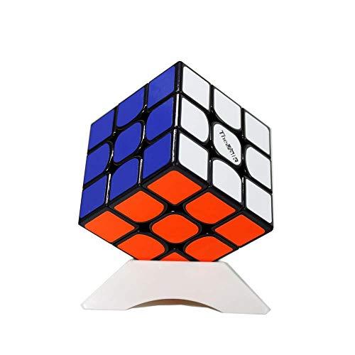 OJIN Valk 3 The Valk 3 Cube Puzzle 3x3x3 Juguete de Rompecabezas Liso de 3 Capas con un trípode de Cubo (Negro)