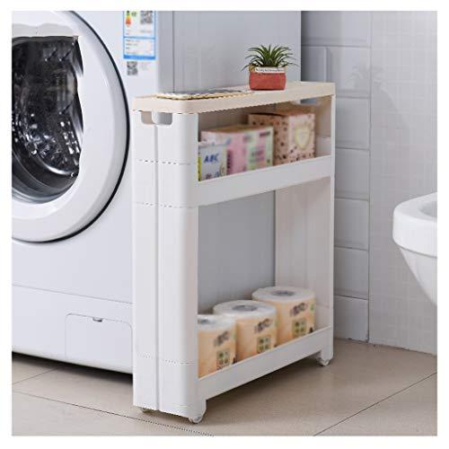 YULAN plank naad opslag rack keuken badkamer vloer koelkast naast smal kast badkamer verwijderbare multi-layer kloof plank breedte 12,5 cm met wielen