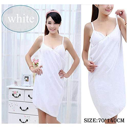 Home Textile Handtuch Frauen Bademantel Bad Wear Handtuch Kleid Mädchen Frauen Damen Quick Dry Beach Spa Magic Pyjamas Schlaf - Weiss