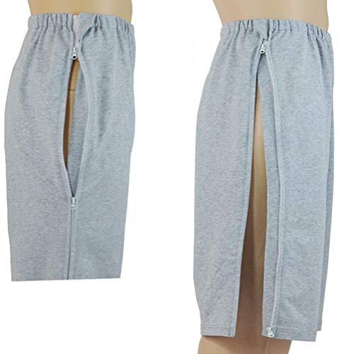 JM-D Pantalones de incontinencia, el Paciente Cuidado de la Ropa, cirugía de Reposo en Cama a Largo Plazo Pantalones de enfermería, para Pacientes con discapacidad,XL