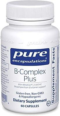 Pure Encapsulations - Vitamin B-Complex Plus - Balanced B Vitamin Formula with Active Folate - 60 Capsules