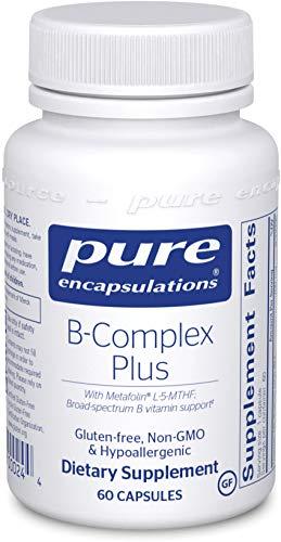 Pure Encapsulations - B-Complex Plus - Aktivierte B-Vitamine mit Metafolin® für verbesserte Aufnahme - 60 Veg. Kapseln