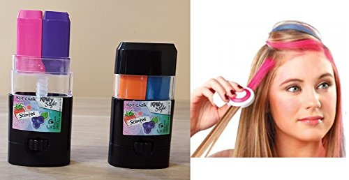 Lot de 2 craies craie pour cheveux parfumee - Deguisement Carnaval - 003