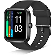 JIKKO ID206 Fitness Health Tracker 1.69 Inch Touchscreen with Heart Rate Monitor, Sport Watch, Alexa Activity Tracker for Android iOS