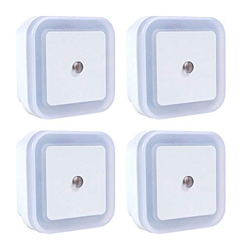 FENRIR Nachtlicht Steckdose mit Dämmerungssensor,Automatisch ON/OFF Stromsparendes,LED Orientierungslicht mit Dämmerungssensor für Kinderzimmer, Badezimmer, Schlafzimmer, Gang, Küche(4 Stück)