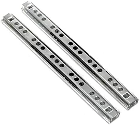 1 Pairs Steel At the price of surprise Ball Bearing Don't miss the campaign Drawer 17MM Slides - Cabinet Runners
