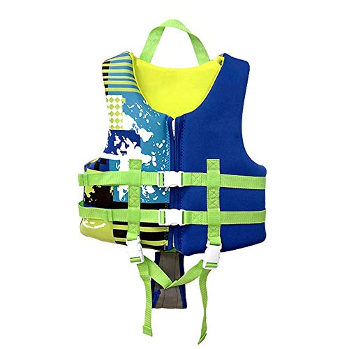 JYMEI para Niños Profesional Chaleco Salvavidas Protección De La Correa Cruzada De La Correa Niños Chaleco De Natacion Traje De Baño De Seguridad para Natación,Azul,XXL