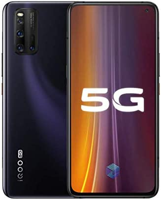 """Amazon.com: Original IQOO 3 8G+128GB 5G Mobile Phone Snapdragon 865 AMOLED  6.44"""" Screen Android 10 180hz 4440mAh 55W Super Charger Global ROM UFS 3.1  48.0MP Cellphone by-(Real Star Technology) (Black 8+128): Electronics"""