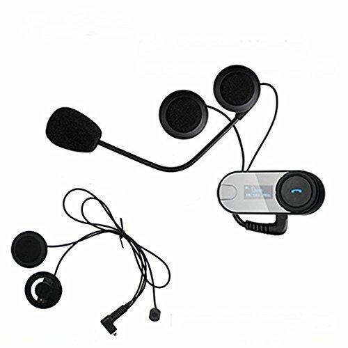 Boblov TCOM-SC W Motorrad Intercom Headset Bluetooth Motorrad Sprechanlage 800M Motorrad Helm Interphone wasserdichte Geräuschreduzierung LED Bildschirm Full Duplex-Freisprecheinrichtung