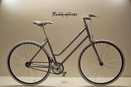 Cicli Ferrareis Bici Fixed Fixie Scatto Fisso Single Speed Donna Grigio Personalizzabile