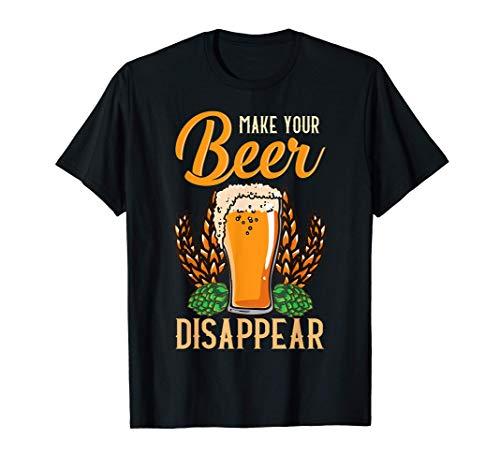 Lustiges Bier macht Ihr Getränk verschwinden Reim T-Shirt