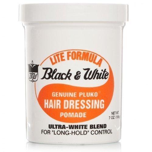 Black & White Genuine Pluko Hair Dressing Pomade lift formula 200 ml by Black and White