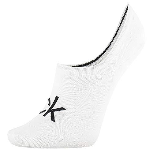 Calvin Klein Socks Womens Liner 1p modern Logo Kristal Socks, White, ONE Size