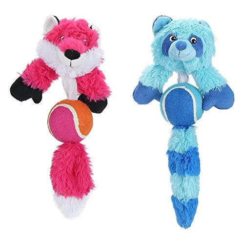 YOUTHINK 2 Stück Hund Quietschspielzeug, Plüsch Hundespielzeug Welpe Kauspielzeug für kleine mittlere Hunde Interaktiv