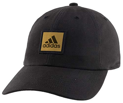 adidas Men's Ultimate Relaxed Adjustable Cap, Black/Gold Metallic, ONE SIZE