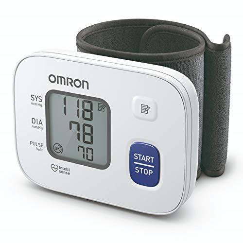 Omron HEM 6161 Fully Automatic Wrist Blood Pressure Monitor with Intellisense Technology,...